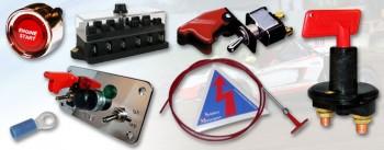 Schalter, Sicherungen, Kabel und Zubehör