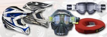 Bekleidung Helme Crossbrillen spez. für Autocross