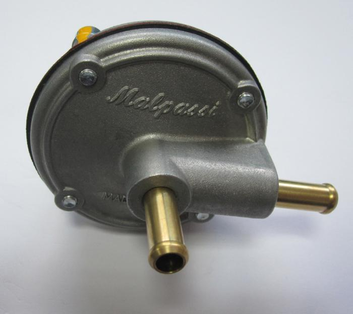 Malpassi Benzindruckregler 8mm  1,0-5,0 bar  - Aluguss