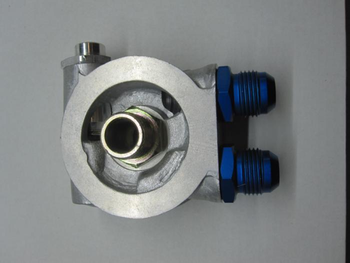Mocal Ölkühler-Adapterplatte 3/4 Zoll Set  mit Thermostat - Set mit Dash10 Aluminium Anschlüssen