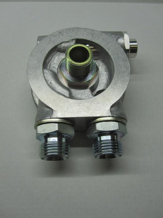 Mocal Ölkühler Adapterplatte 3/4 Zoll Set  mit Thermostat - Set mit 1/2 BSP Anschlüssen