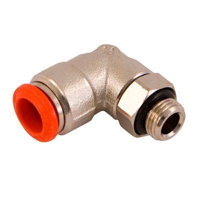 Endverbindungsstück 90°  L-förmig, mit Schnellkupplungenfür Alu-Rohr