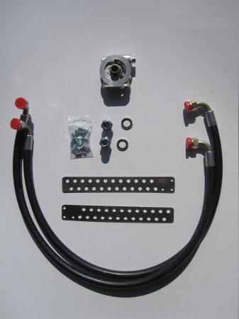 Mocal Ölkühlereinbausatz 3/4 mit Thermostat  Schläuche Aeroquip std.