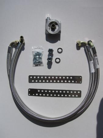 Mocal Ölkühlereinbausatz M18x1,5 mit Thermostat  Schläuche stahlummantelt