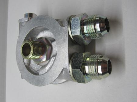 Mocal Ölkühler Adapterplatte 3/4 mit Thermostat - Set mit Dash10 Stahl Anschlüssen