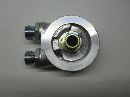 Mocal Ölkühler-Adapterplatte 13/16 UNF  ohne Thermostat - Set mit 1/2 BSP Anschlüssen