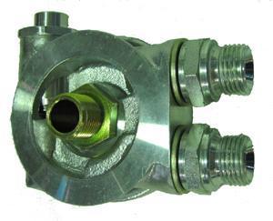 Mocal Ölkühler-Adapterplatte 13/16 UNF  mit Thermostat - Set mit 1/2 BSP Anschlüssen