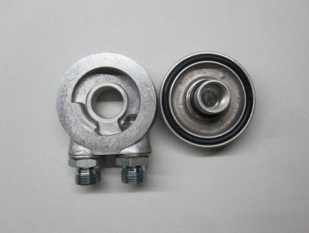 Mocal Filter Abdeckplatte 3/4 Filtergewinde  mit seitlichen Abgängen mit Adapter auf 1/2 BSP außen
