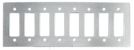Sicherungsleiste / Einbaublende   8-fach Aluminium silber