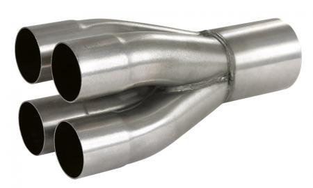 Powersprint Auspuff-Sammler  4x 45 mm Ø auf 1x 76 mm Ø  280mm/ 1.5