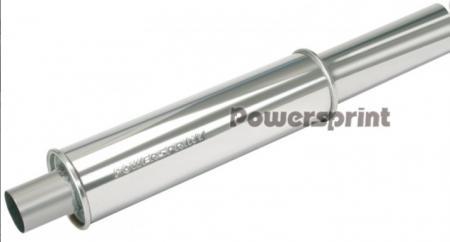 Powersprint Endschalldämpfer 63,5mm  Ø 89 mm Endrohr