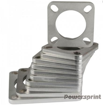 Powersprint Quadrat-Flansch 4-Loch  89 mm Ø Rohrausschnitt