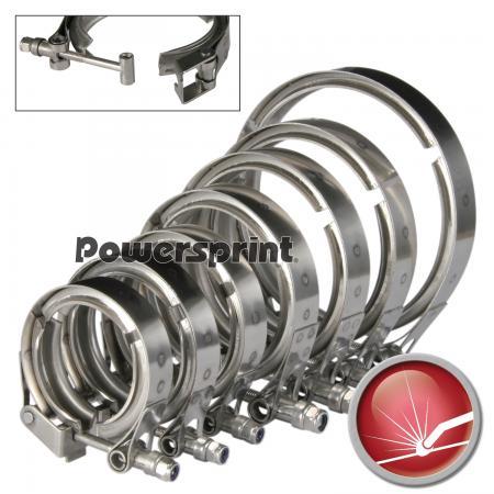 Powersprint Auspuff Schnellverschluss V-Band Schelle (QR)  Ø 65 - 76 mm / 2,75 - 3,0 small