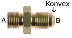 Stahladapter BSP - JIC  1/2x14 konkav zu 3/4UNF konvex