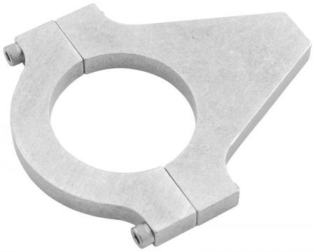 Aluminium Rohrhalter kurz   für Rohrdurchmesser 44mm bis 47 mm