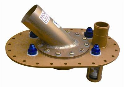 Deckplatte Aluminium 45°  passend für ATL Tanks