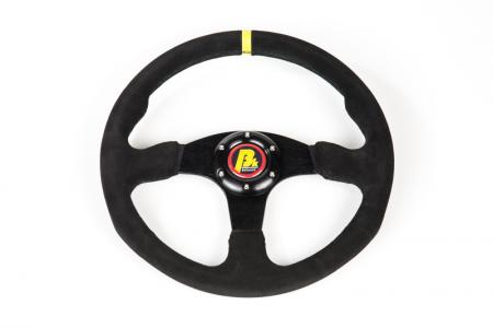 Beltenick® Sportlenkrad Rallye 350mm  ungeschüsselt - flach Wildleder