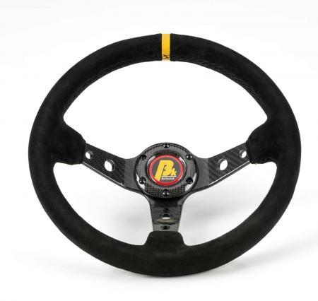 Beltenick® Sportlenkrad Carbon Rallye 350mm  95mm geschüsselt Wildleder