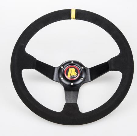 Beltenick® Sportlenkrad Rallye 350mm  95mm geschüsselt Wildleder