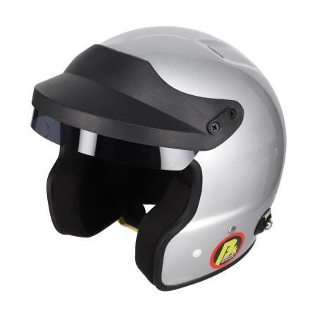 Beltenick® OF Racing silber mit Hans Clips  Homologation FIA 8859-2015 Jet Helm