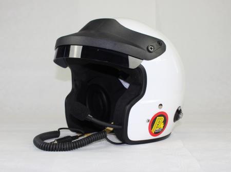 Beltenick® OF Racing mit Sprechanlage  Jet Helm mit Hans Clips Homologation FIA 8859-2015