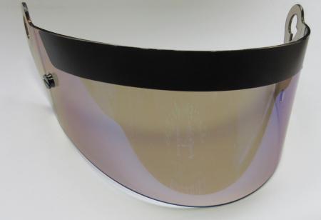 Ersatzvisier für Beltenick® FF Racing  blau irdium verspiegelt mit FIA Hologrammlabel