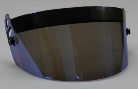 Visier für Beltenick® Beltenick® Full Face Carbon 611 Helm  blau verspiegelt
