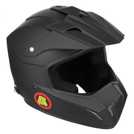 Beltenick® FIA Cross Helm schwarz matt  mit Hans Clips FIA 8859-2015