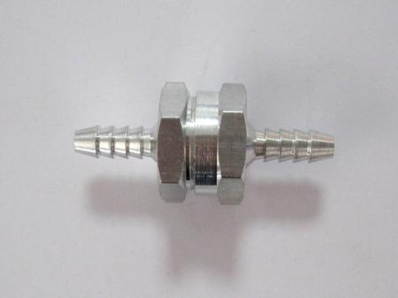 Rückschlagventil  6mm  für Kraftstoffleitungen, Aluminium