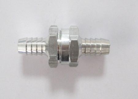 Rückschlagventil 10mm  für Kraftstoffleitungen, Aluminium