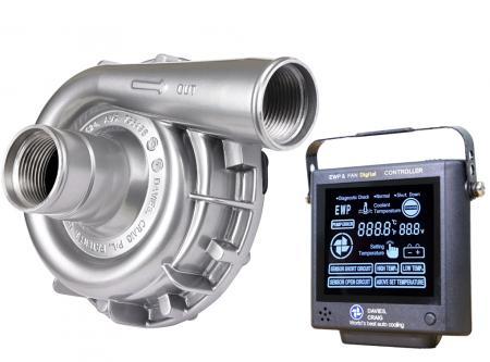 Set aus EWP115 Aluminium 12V und Kontrollpanel (8002) Davies Craig 24V