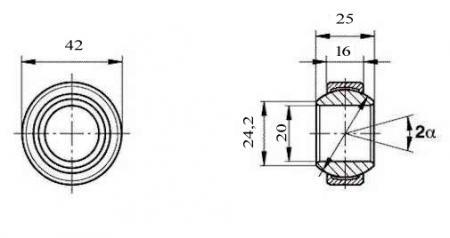 Fluro Motorsport Gelenklager 20x42x16/25 - MS  DIN 648 - E Reihe G, Lager vorgespannt