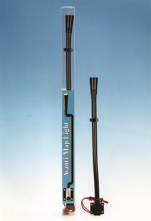 Avanti Rallye Leselampe 457mm (18 inch) mit Schalter  vorderer Lichtaustritt (kegelförmig)