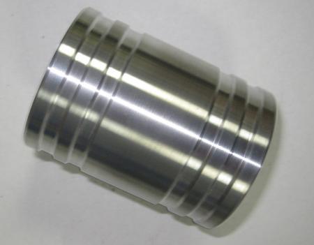 Alu - Verbindungsrohr gedreht