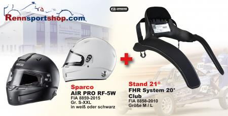 Hans Komplettangebot Sparco Air Pro  Sparco Kombi Angebot FHR System