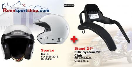 Hans Komplettangebot Sparco RJ-3  Sparco Kombi Angebot FHR System