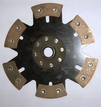 Kupplungsscheibe Sinterstern 6-Pad Durchm. 225   Verzahnung 1-1/32 x24 Honda