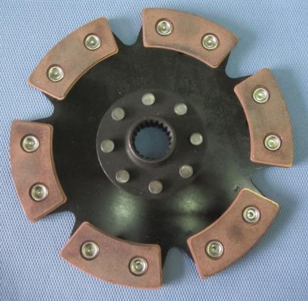 Kupplungsscheibe Sinterstern 6-Pad Durchm. 228   Verzahnung 1-1/8 x 26 Mecedes/VW