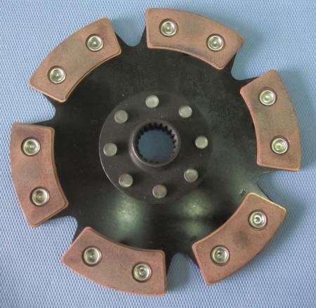 Kupplungsscheibe Sinterstern 6-Pad Durchm. 220   Verzahnung 1x23 (Porsche, Ford, Mitsubishi,  Sadev)