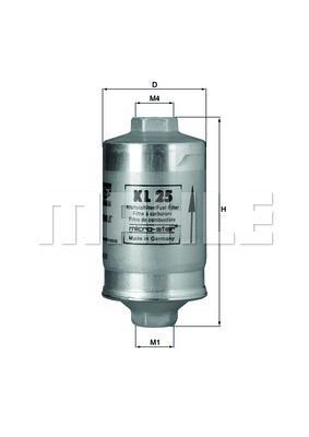Kraftstoffilter Knecht/Mahle KL25  Hochdruckfilter für Rennsport geeignet.