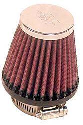 K&N Universalluftfilter, 48mm Flansch  Konische Rundform, 76x51 76lg