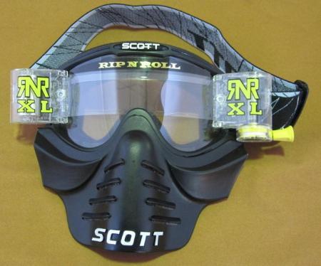 Crossbrille Scott 83x Vollcross  Brille incl. RNR XL Roll Off und Vollmaske