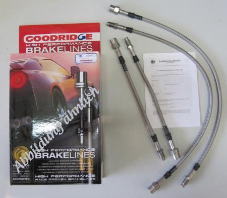 Goodridge Bremsschlauchsatz Mazda MX 5  NA+NB ab ´89-  + Block   4-teilig mit ABE
