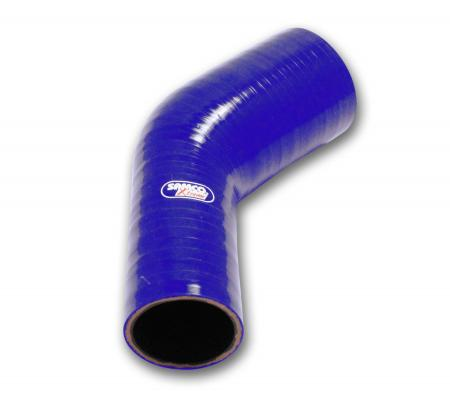 Samco Xtreme Reduzierstück 45° 76-63mm   blau